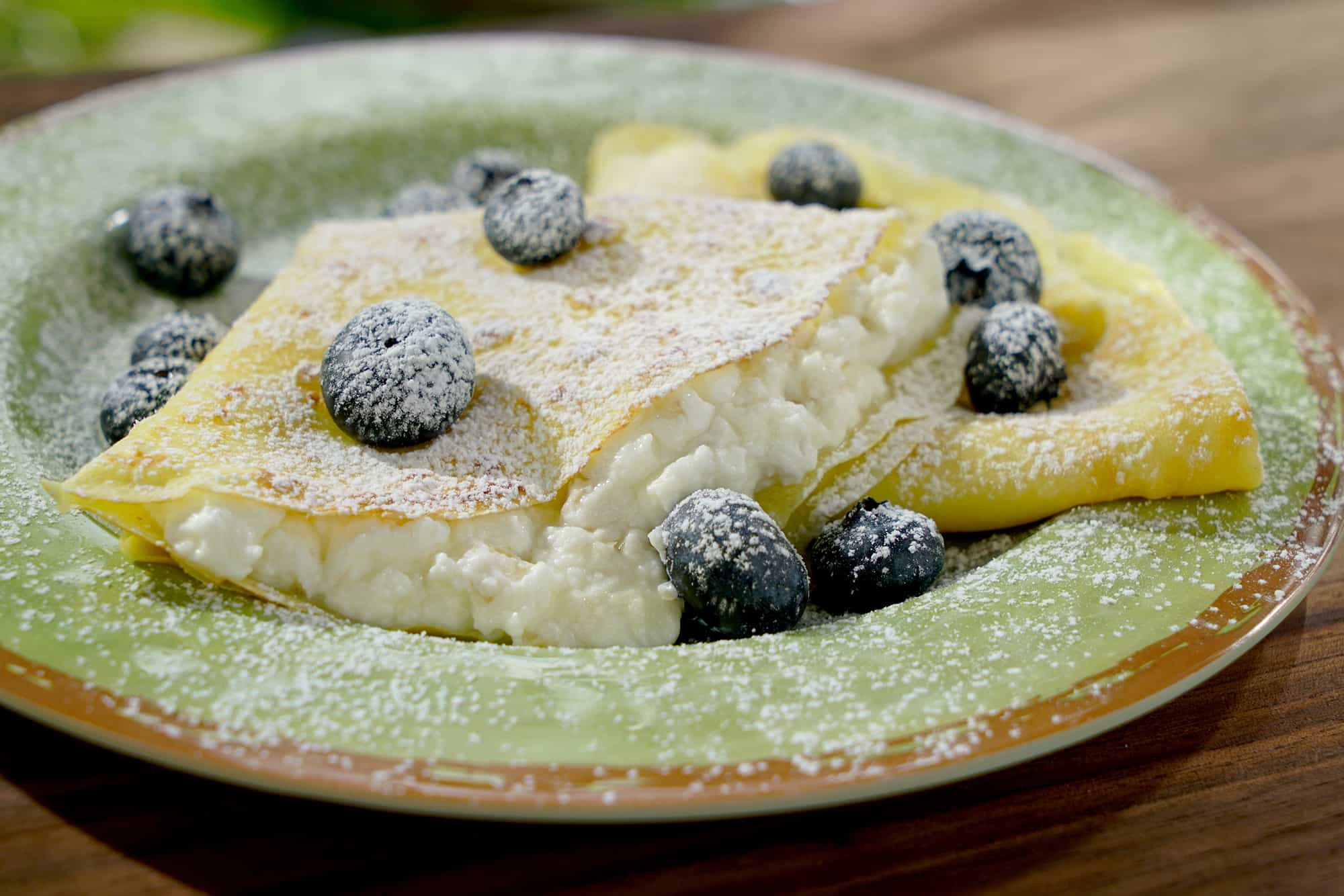 Lemon Crepes with Almond Mascarpone