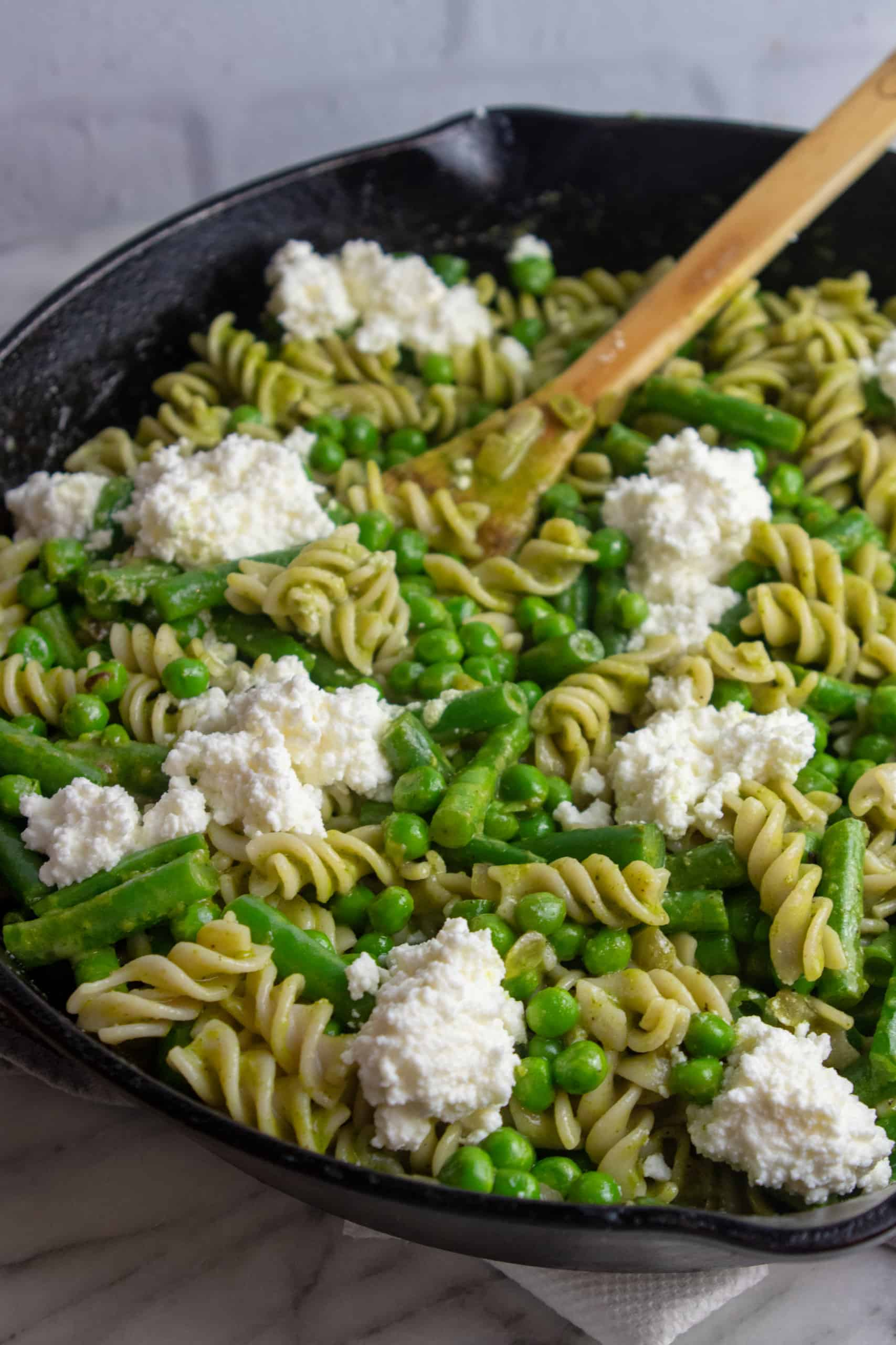 Fusilli with Pesto and Green Beans