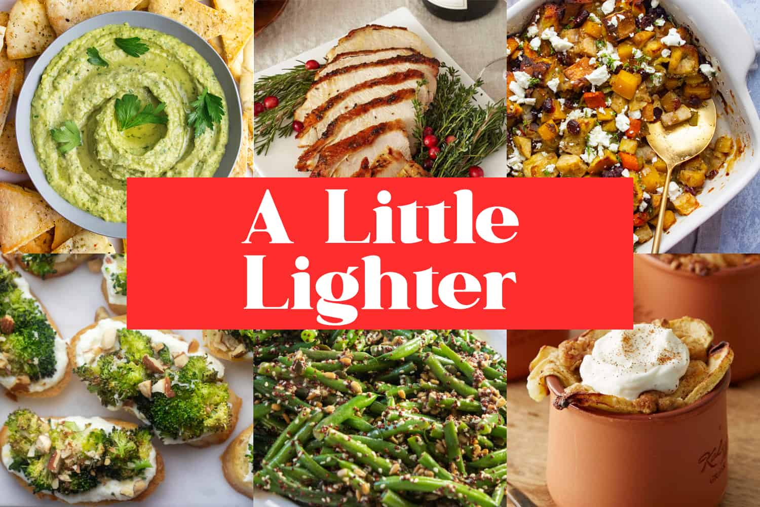 A Little Lighter Thanksgiving Menu