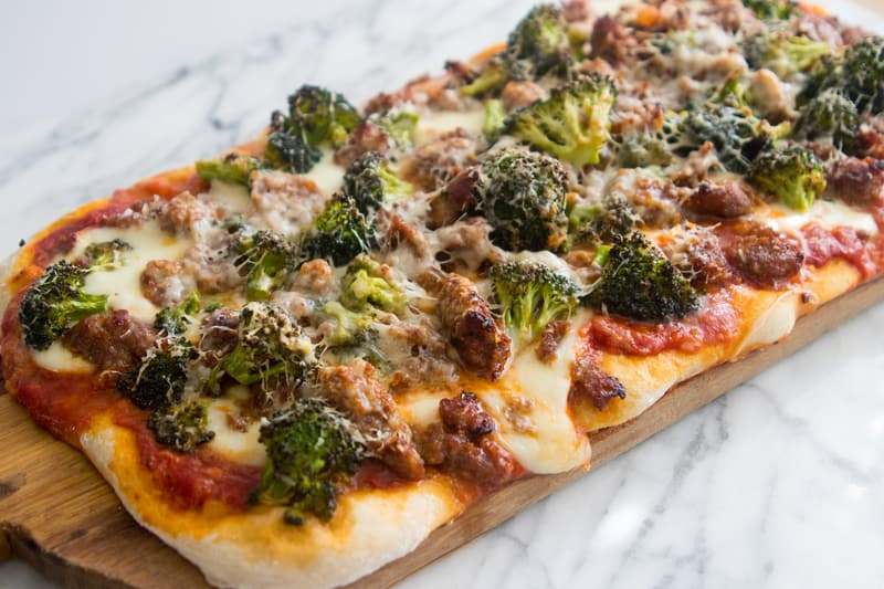 Sausage and Broccoli Pizza